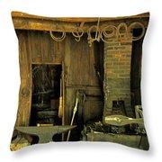 Blacksmith Anvil Throw Pillow