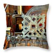 Blacksmith Blues Throw Pillow