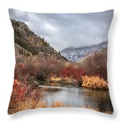 Blacksmith Fork Canyon Throw Pillow