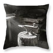 Blacksmith Shop Throw Pillow