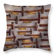 Blacksmith - Tools - Pounding Headache  Throw Pillow by Mike Savad