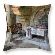 Blacksmiths Workshop Throw Pillow