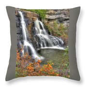 Blackwater Falls-2a Blackwater Falls State Park Wv Autumn Mid-morning Throw Pillow