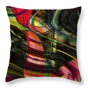 Blades In The Layered Worlds Throw Pillow