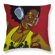 Blame It On The Boogie Throw Pillow