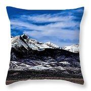 Blanca Mountains Near Fort Garland Colorado Throw Pillow