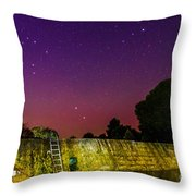 Blanco River Dam At Night - Texas Hill Country Blanco Texas Throw Pillow