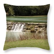 Blanco River Weir Throw Pillow