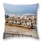 Blankenberge Beach Belgium Throw Pillow