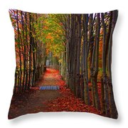Blanket Of Red Leaves Throw Pillow