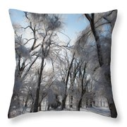Blanket Of Snow Throw Pillow by Jeff Swanson