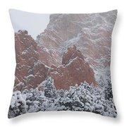 Blanketed Grandeur - Garden Of The Gods Throw Pillow