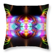 Blast Of Colors Throw Pillow