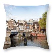 Blauwbrug In Amsterdam Throw Pillow