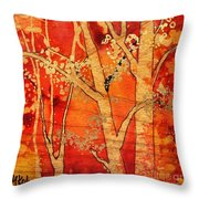 Blazing Autumn Throw Pillow
