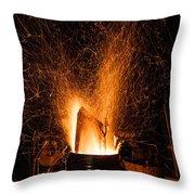 Blazing Bonfire Throw Pillow