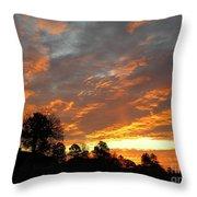 Blazing Christmas Sunset Throw Pillow