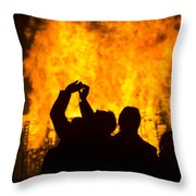 Blazing Fire Throw Pillow