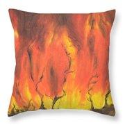 Blazing Fire Throw Pillow