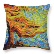 Blazing In The Light Throw Pillow