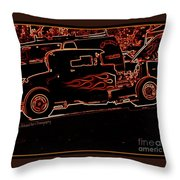 Blazing Out Throw Pillow