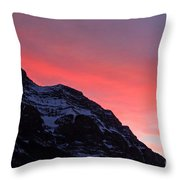 Blazing Pink Throw Pillow