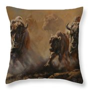Blazing Thunder Throw Pillow