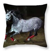 Blazzing Horse Throw Pillow