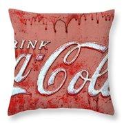 Bleeding Coke Red Throw Pillow