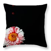 Bleeding Flower Throw Pillow