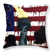 Bleeding For Freedom Throw Pillow