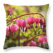 Bleeding Heart Throw Pillow