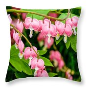 Bleeding Hearts In Bloom Throw Pillow
