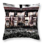 Bleeding House Throw Pillow