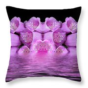 Bleeding Violet 2 Throw Pillow