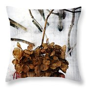 Bleedout In The Snow Throw Pillow