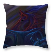 Blended Beings Throw Pillow