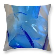 Blenko Blue Throw Pillow
