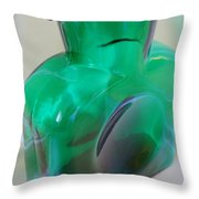 Blenko Green Throw Pillow