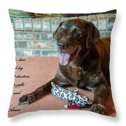 Bless This Dog Throw Pillow