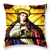 Blessed Mother's Ascension Throw Pillow