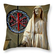 Blessed Virgin Mary -- Nazareth Throw Pillow