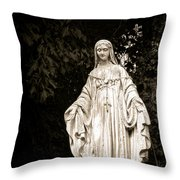 Blessed Virgin Mary Throw Pillow by Olivier Le Queinec