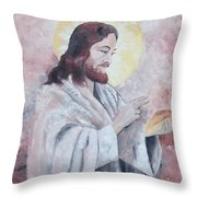 Blessing Of The Bread Throw Pillow