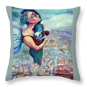 Blessing Over The Wine Throw Pillow