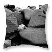 Blessings On Every Stone Throw Pillow