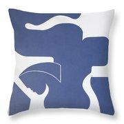 Bleu Sensation Throw Pillow
