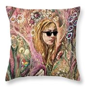 Blind Beauty Throw Pillow