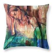 Blind Date Throw Pillow by Anthony Falbo