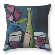 Blind Date With Wine Throw Pillow